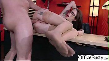 (Anna De Ville) Hot Busty Girl In Hard Intercorse In Office movie-02