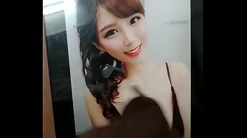 Cum on Taiwanese bitch Kitty Chao's boobs