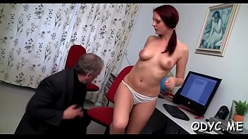 Busty youngster gets her muff annihilated by an old guy