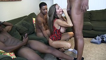 HotWifeRio gets gangbanged by black guys