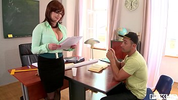 Redhead teacher porn Hardcore fuck leads to spurt of cum all over tutor sandra boobies big tits