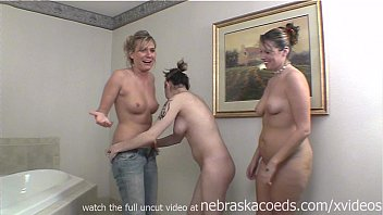 3 girls getting naked for the first time on camera