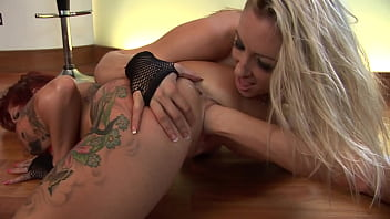 Horny sluts masturbate with their hands and feet