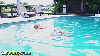 Trybang.com - Julie Kay Seduces The Pool Boy Tyler Steel With Her Amazing Body