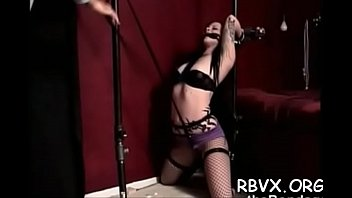 Nipple torture and vibrator play for ballgagged slut