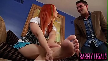 Hustler barely legal club Redhead teen dani jensen has cumshot over feet after plow