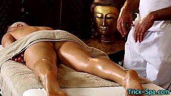 Hot blondes oily massage