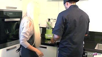 Tight Tini Seduce Fuck by Big Dick Boss at Work German Teen