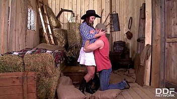 Cowgirl Sirale gets her gigantic natural boobs & wet pussy fucked real hard