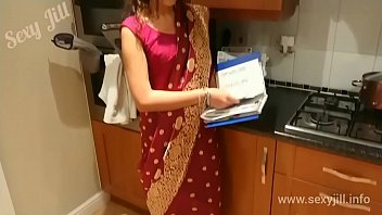 Young sister in law from Assam seduces brother in law on valentine's day in red saree POV Indian