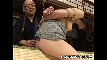 Bondage items worn under clothing Tied up asian babe gets spanked and dildo fucked