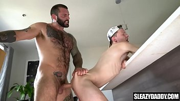 Gay daddy fucks own step son before moving out