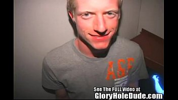 Blonde Boy Toy Aaron Blows Gloryhole Strangers at the Bookstore