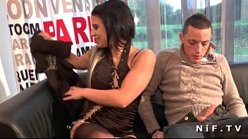 Dark nude babes Dark haired french babe with shaved pussy anal fucked for her casting