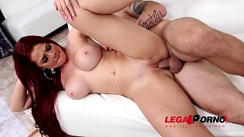 Long-haired sultry Redhead Skyla Novea needs her shaved pussy to be filled GP378