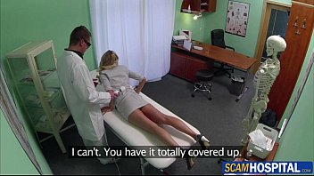 Stunning blonde Victoria is ready for the doctors cock to fuck her in doggystyle