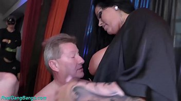 extreme gangbang with busty Ashley Cum Star