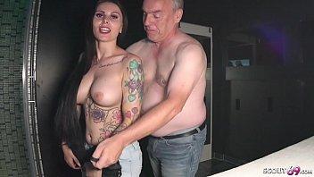 German Big Tits Teen Xania Wet in 2 real Fan Fuck Dates with old Man