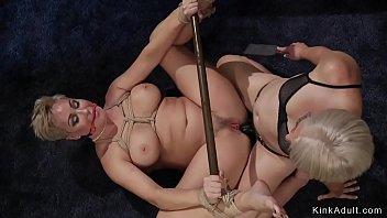 Lesbian Milf lawyer anal fucks client