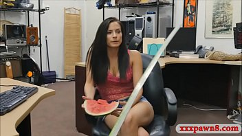 Tight amateur pounded at the pawnshop