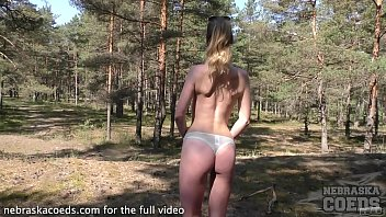 Naked teen in forest - Forest fling inflatable dildo with young 18 year old model lucky camera guy