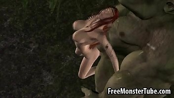 3D redhead elf babe getting fucked hard by a monsterSY-high 2 thumbnail