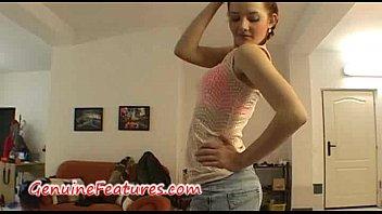 Redhead striptease - Hot striptease by czech redhead teen