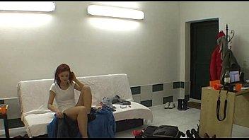Hot striptease by czech redhead teen