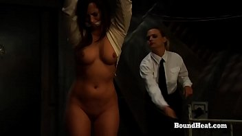 No Escape 2: Gagged And Tied Lesbian Slave Screams From Whipping