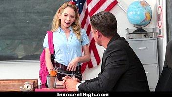 InnocentHigh - Promiscuous Teen (Angel Smalls) Fucks Teacher