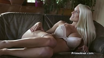 Big tit blonde enjoys big cock anal sex on top