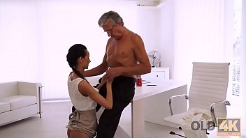 OLD4K. Liliane takes panties off and gives cunny to principal