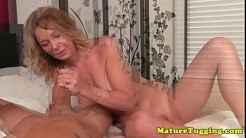Gilf milf - Gilf amateur wanking cock sensually