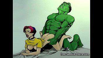 Sex, comic strip - Famous cartoon superheroes porn parody