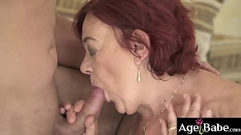Granny Marsha grabs her boy toy's cock to add more fun on the game