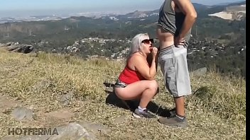 Hot fucking with lover on the mountain