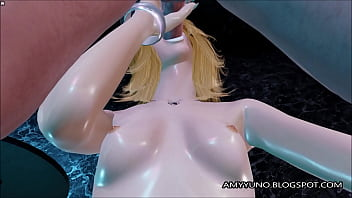 Sexy Blonde Virtual Girl In White Stockings Fucked And Gets Facial!