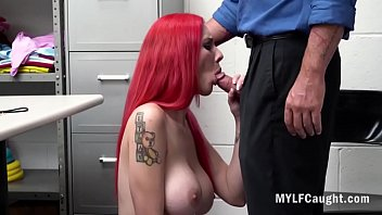 Redhead MILF Gets Her Cunt Fucked By Cop- Lillian Stone