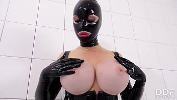 Prick on a Stick - Latex Lucy gets Drilled by a Fucking Machine Image