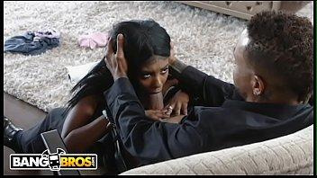 BANGBROS - Eddie Jaye Fucks His Black Teen Babysitter Daizy Cooper