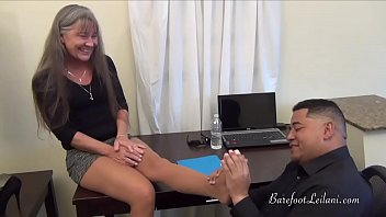 Milfs nylons hair Bribery for a raise