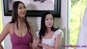 Asian Mom & Sister's Horny Hospitality- Jamine Grey & Sharon Lee