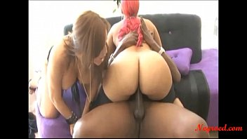 Negroed.com 2 fat spanish girl share big black negro cock and swllow cum