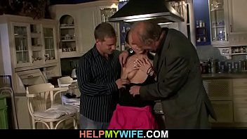 Wife swapping kitchener Old husband watching brunette wife gives him hot blowjob