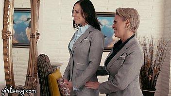 GIRLSWAY Mature Lesbian Gifts Aidra Fox a Power Suit thumbnail