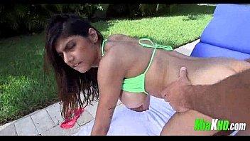 Mia Khalifa poolside fuck 10 exotic big-tits