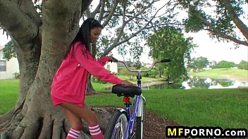 Freaky Babe Fucks Herself With Her Bike Adriana Milano 2