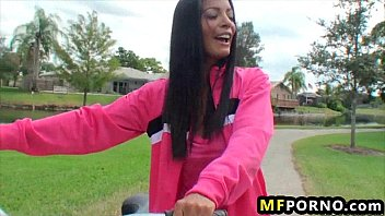 Best adult bike Freaky babe fucks herself with her bike adriana milano 2