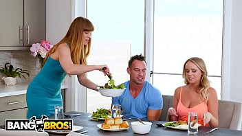 Bangbros - Alexis Adams Fucks Her Boyfriend Johnny Castle Behind Her Mom's Back