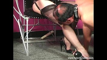 Nylon Mistress Whipping